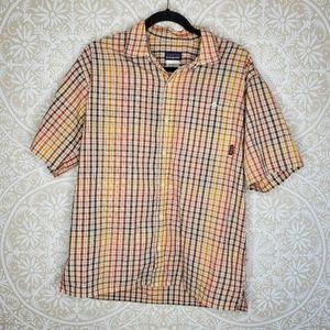 Patagonia Grid Checkered Button Down Shirt M